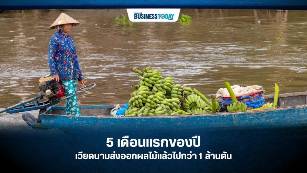 5 เดือนแรกของปี เวียดนามส่งออกผลไม้แล้วไปกว่า 1 ล้านตัน